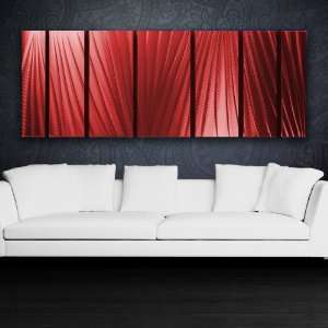 Red Modern Abstract Metal Wall Art Sculpture Red Painting Home Decor