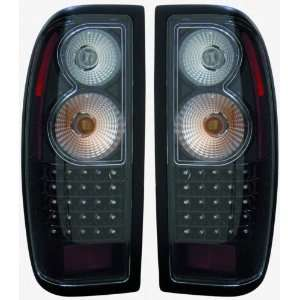 1998 2004 Nissan Frontier Tail Lights (LED Black) 1 Pair