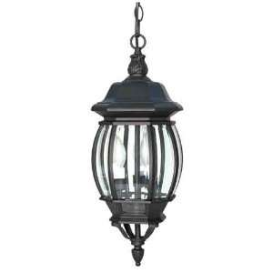 Park 3 Light Textured Black Outdoor Ceiling Light