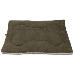 Olive Green Suede Crate Mat Large   36 Inch   Good Habit