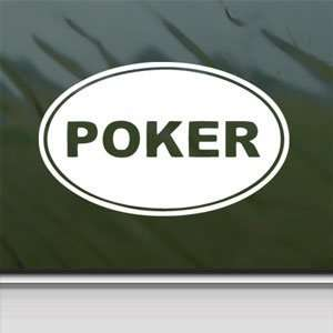 Poker EURO OVAL White Sticker Car Laptop Vinyl Window