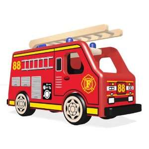 Pintoy Fire & Police Series City Fire Engine [Toy] Toys