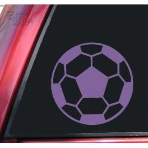 Soccer Ball Vinyl Decal Sticker   Lavender Automotive