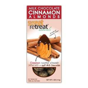 Sweet Retreat Naturals Roasted Almonds with Milk Chocolate, Cinnamon