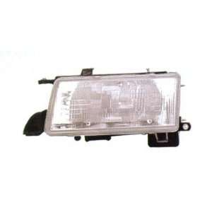 1991 94 TOYOTA TERCEL HEADLIGHT ASSEMBLY DELUXE LE, COMPOSITE, DRIVER