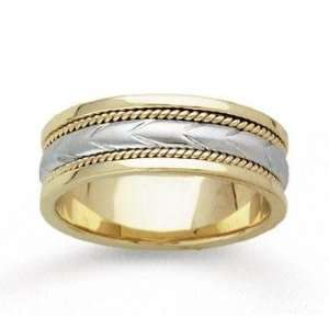 14k Yellow Gold Fine Milgrain Hand Carved Wedding Band Jewelry