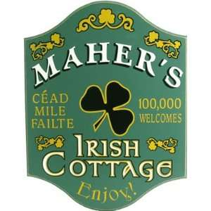 Personalized Wood Sign   IRISH ROSE COTTAGE Sports