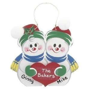 Personalized Snow Couple Christmas Ornament