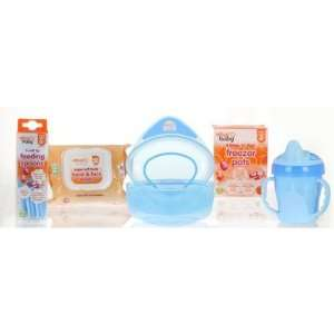 Vital Baby Baby Boy Feeding Kit Set in Blue Baby