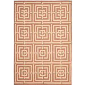 Safavieh Courtyard Collection CY6937 21 Terracotta and Cream Indoor