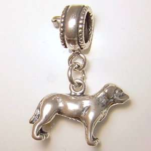 Labrador Retriever Dog Sterling Silver Dangle Charm