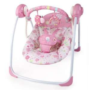 Bright Starts Portable Swing, Blossomy Blooms Baby
