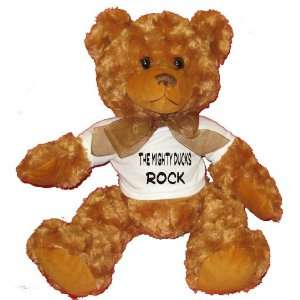 The Mighty Ducks Rock Plush Teddy Bear with WHITE T Shirt