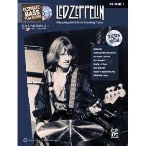 Alfred Led Zeppelin Ultimate Play Along Bass Volume 1 with