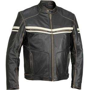 River Road Hoodlum Vintage Leather Jacket   40/Black Automotive
