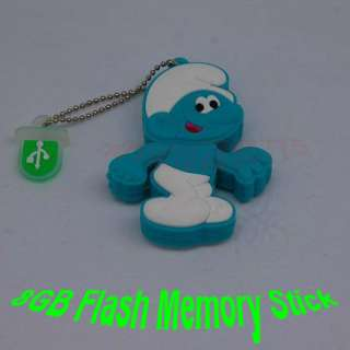 Cartoon Smurf kid 8GB USB Flash Memory Pen Stick Drive Real Capacity