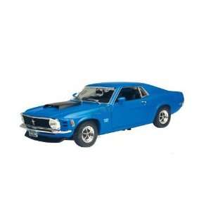 Ford Mustang Boss 429 Hard Top (1970, 118, Blue) diecast car
