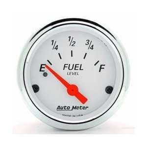 Auto Meter 1317 WHITE FUEL LEVEL GAUGE Automotive