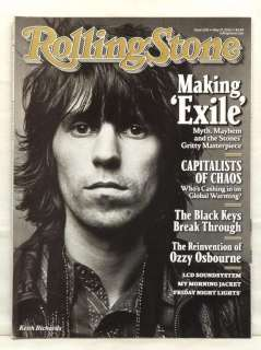 ROLLING STONE #1105 KEITH RICHARDS COVER 2 OF 2 RARE