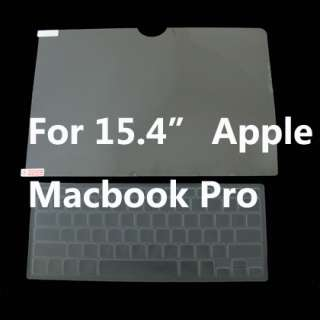 Screen Protector + Keyboard Cover For 15.4 Macbook Pro