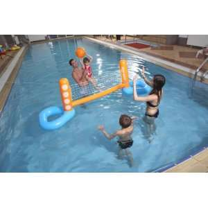 27 Kids Inflatable Pool Floating Water Volleyball Set with Volleyball