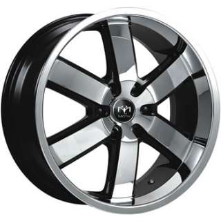 22x9.5 Chrome Black Wheel Motiv Magnum 6x135 Rims