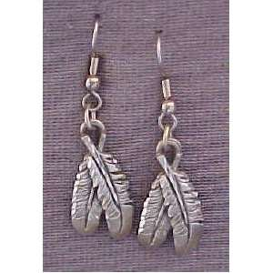 Native American Double Feather Earrings (#ERM1030
