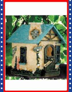 Rustic Cottage Style Garden Birdhouse Bird House Decor