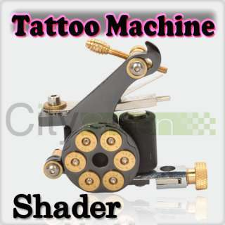 Bullet 10 Wrap Coils Cast Iron Tattoo Machine Gun Shader